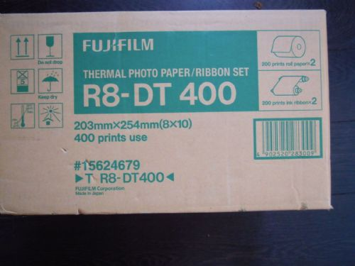 "FUJI ASK PRINTER PAPER 10X8"" 2 ROLLS R8-DT-400 FOR ASK400"